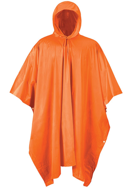 Mossi Blaze Orange Emergency Poncho