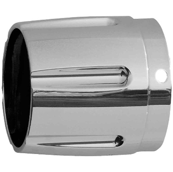 Rush 4″ Tapered with Horizontal Grooves Chrome Exhaust Tip