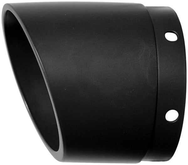 Rush 4″ Tapered with Angle Cut Black Exhaust Tip