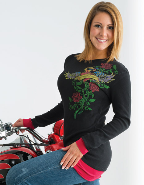 Easyriders Women′s Long-Sleeve Love Potion Shirt