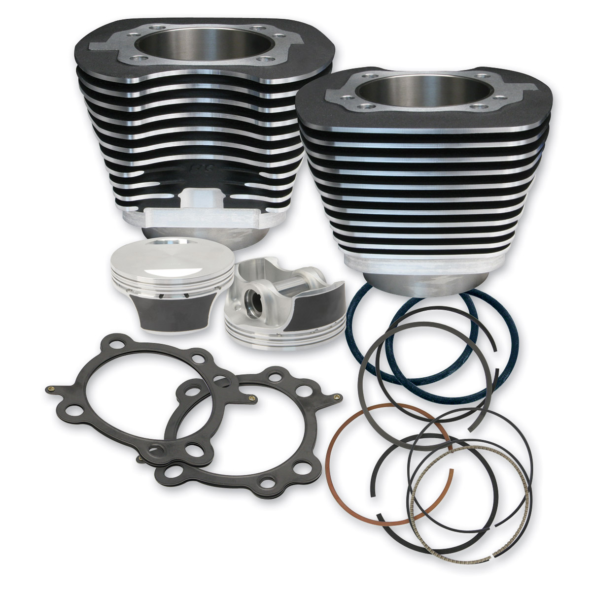 S&S Cycle 97″ Big Bore Kit Black for Twin Cam