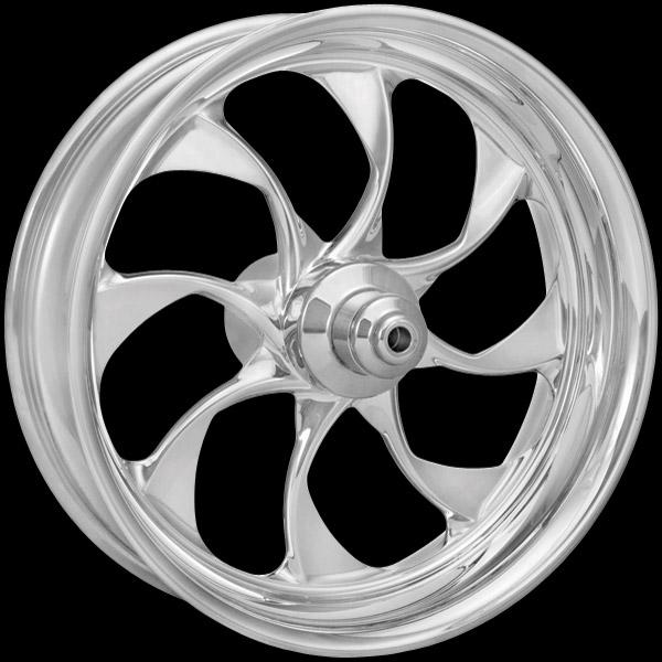 Xtreme Machine Turbo Chrome Rear Wheel for ABS, 18
