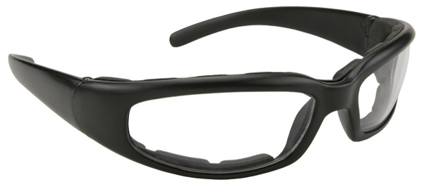 KD's Padded Rally Black Framed with Clear Lens Sunglasses
