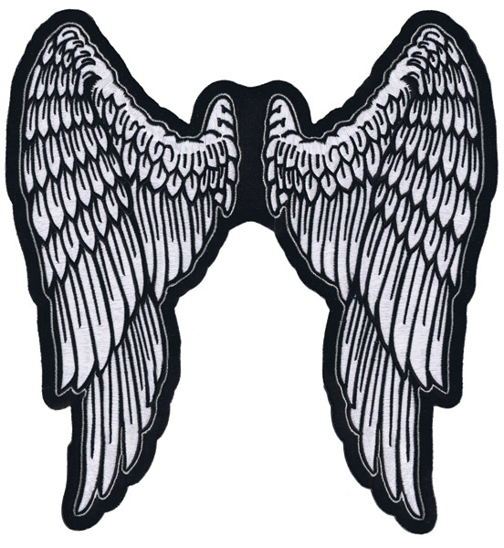 Lethal Threat Angel Wings 11″ x 11-1/2″ Patch
