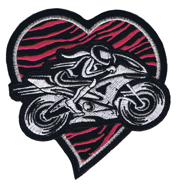 Lethal Threat Pink Heart Bobber Mini Patch