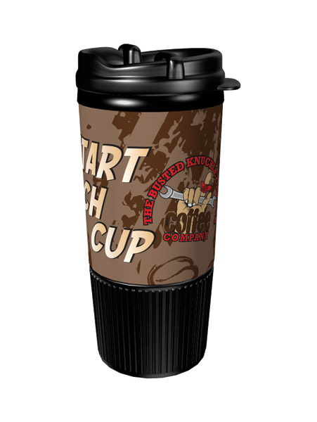 Busted Knuckle Insulated Motorcycle Travel Mug