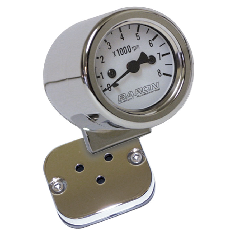 Baron Custom Accessories White Face 2″ Mini Bullet Tach