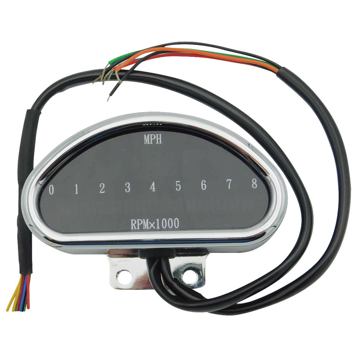 J&P Cycles Digital Sdometer and Tach - 5700063 on