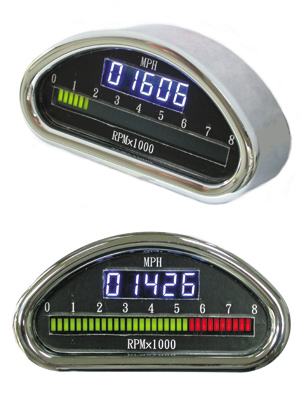 Milwaukee Twins Digital Speedometer and Tach