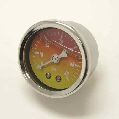 Milwaukee Twins Liquid Filled Oil Pressure Gauge