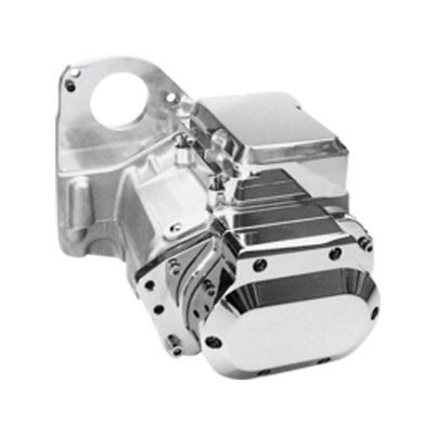 JIMS 6-Speed Overdrive Transmission for Softail with Plain Aluminum Case