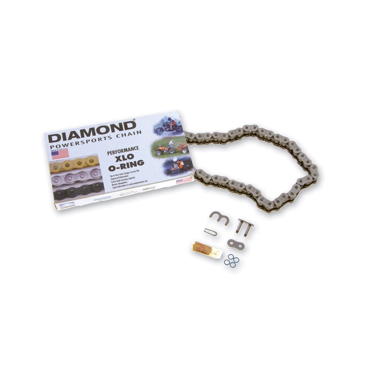O-Ring 120 Link Chain,for Harley Davidson,by Diamond
