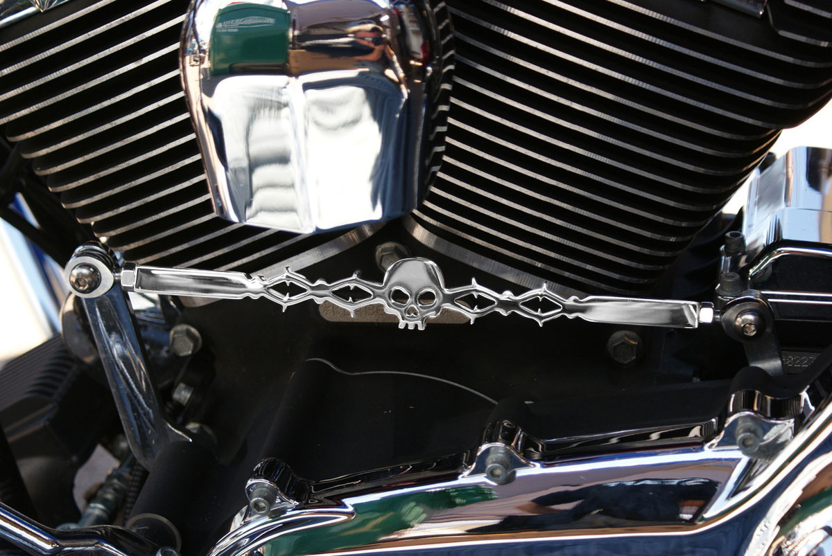 California Custom Cruisers Barbed Skull Shift Linkage