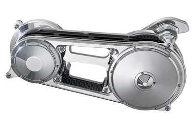 Performance Machine Chrome Contour Belt Drive for Softail with Phatail Kit