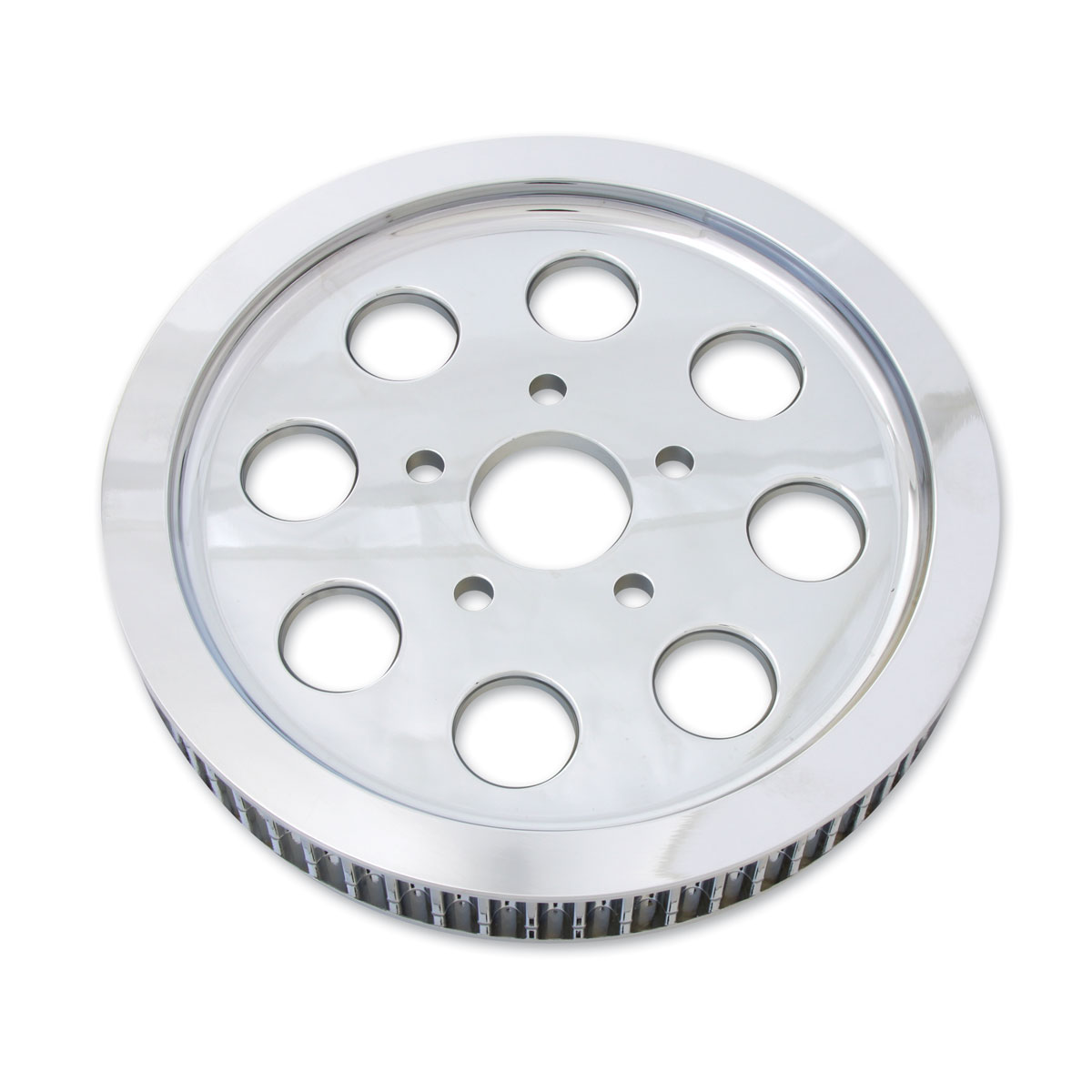 Rear Pulley Cover 61 Tooth Chrome fits Harley-Davidson