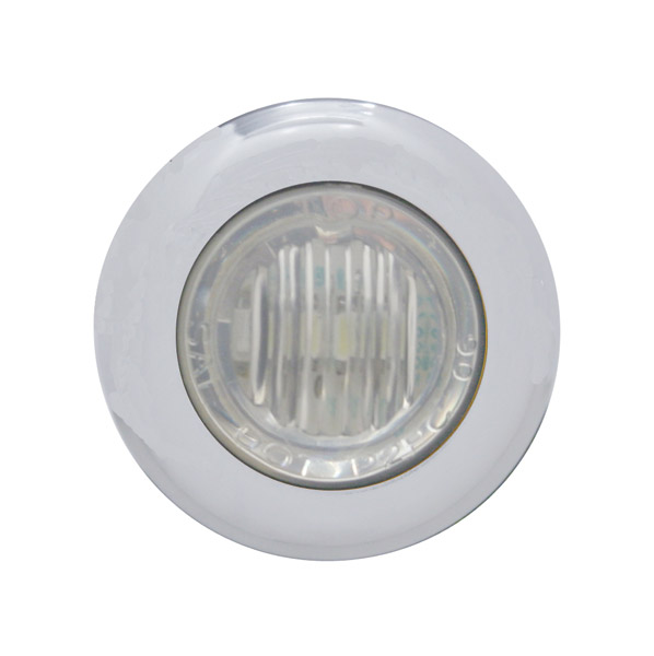 Pro-One White LED with Clear Lens Mini Marker Lights