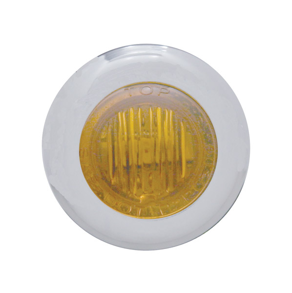 Pro-One Dual Function Amber LED Mini Marker Lights with Amber Lens