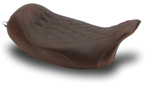 Mustang Brown Wide Tripper Solo Seat with Diamond Stitching