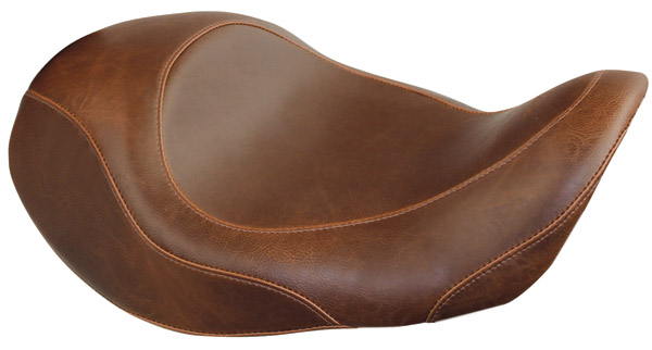 Mustang Brown Wide Tripper Forward Solo Seat