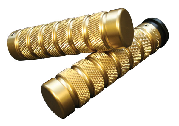 Accutronix Brass Knurled Notched Grips