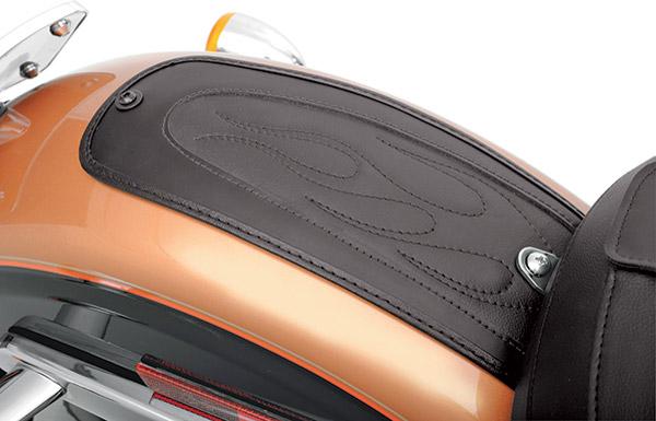 Drag Specialties Fender Skin with Flame Stitch Automotive-Grade Vinyl Center