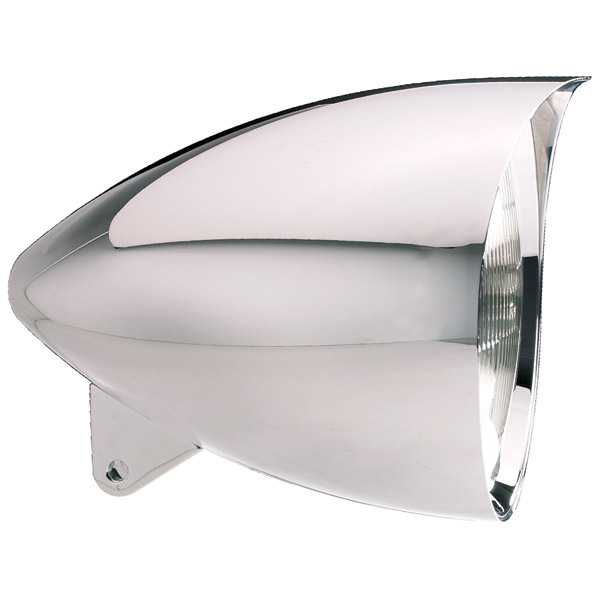 Headwinds 7″ Polished Vampire Concours Rocket Headlight