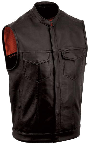First Manufacturing Co. Men's One Panel Leather Concealment Vest