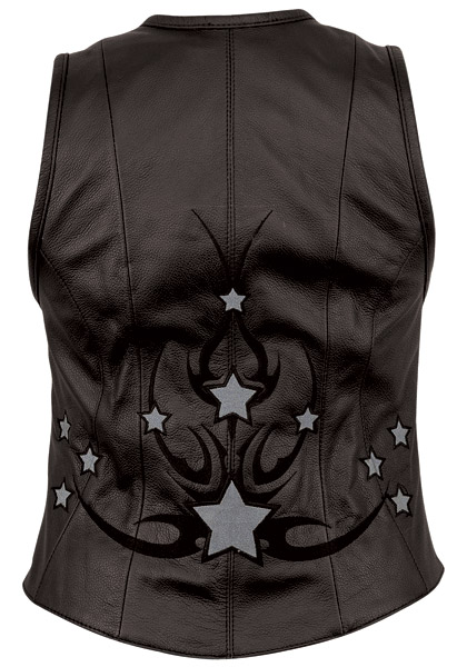 First Manufacturing Co. Women's Zip Front Reflective Star Vest