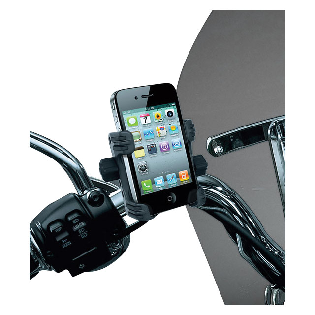 Black Clutch//Brake Perch Mount Tech-Connect Cradle GPS Device//Phone Holder Mounting Kit Kuryakyn 1676 Motorcycle Accessory Large