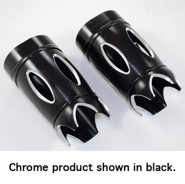 Eddie Trotta Designs Chrome Reverse Cut Fork Slider Covers