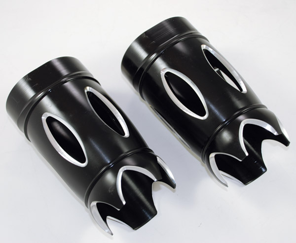 Eddie Trotta Designs Black Reverse Cut Fork Slider Covers