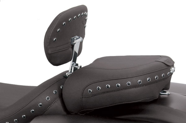 Mustang Black Studded Recessed Passenger Seat with Backrest Receiver