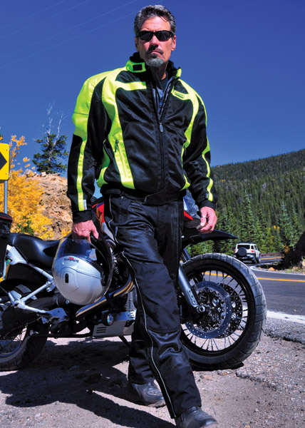 Olympia Moto Sports Men′s Neon-Yellow Switchback Mesh Tech Jacket