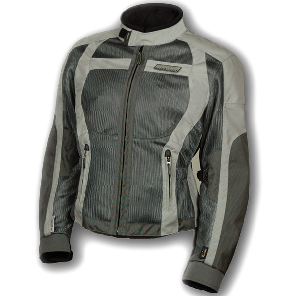 Olympia Moto Sports Ladies Pewter and Silver Switchback Mesh Tech Jacket