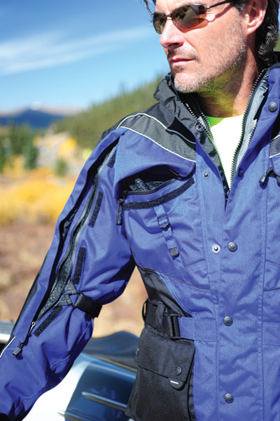 Olympia Moto Sports Men's Blue AST 2 Touring Jacket