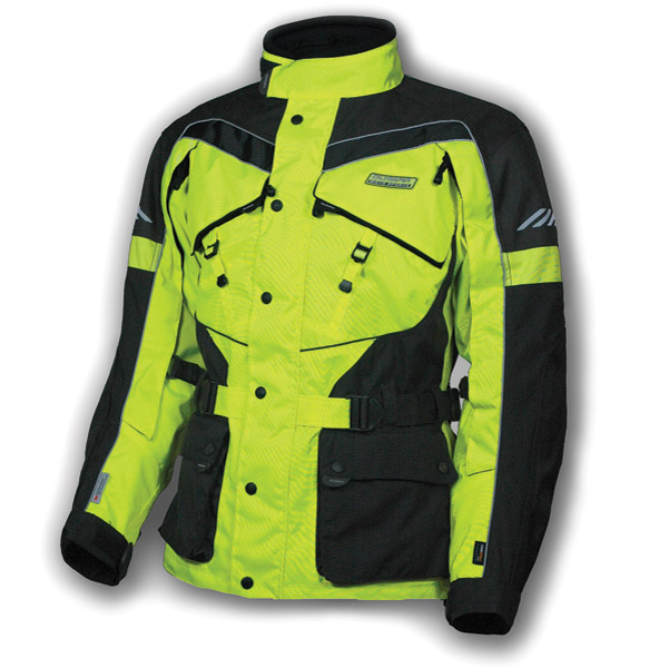 Olympia Moto Sports Men's Neon-Yellow AST 2 Touring Jacket