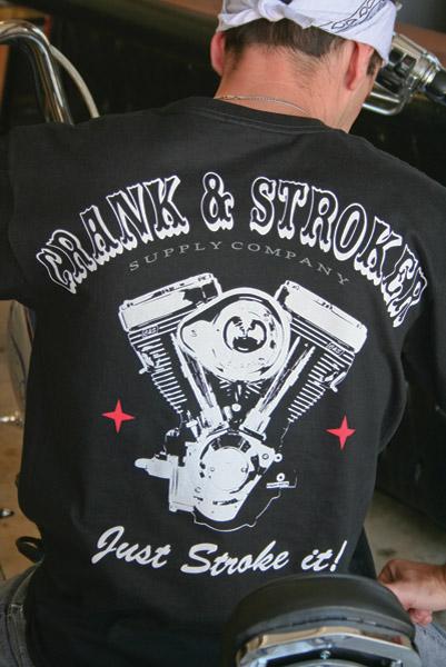 Crank & Stroker Supply Men's All Motor Black T-Shirt