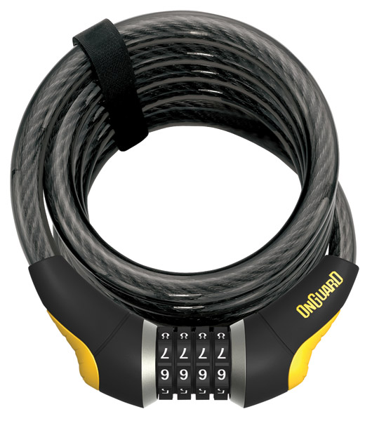 OnGuard Doberman Coil Cable Locks 6′L x .59″W with Combo Lock