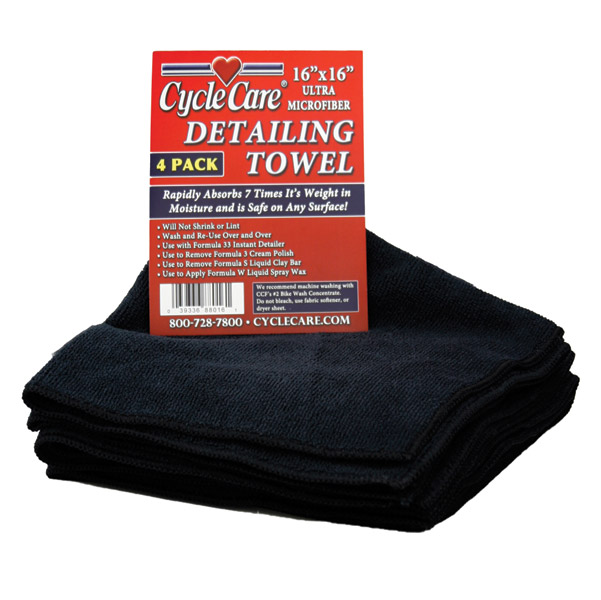 Cycle Care 4-Pak Microfiber Towel