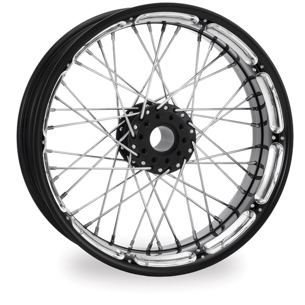 Performance Machine Spoked Wire Platinum Cut Front Wheel, 21
