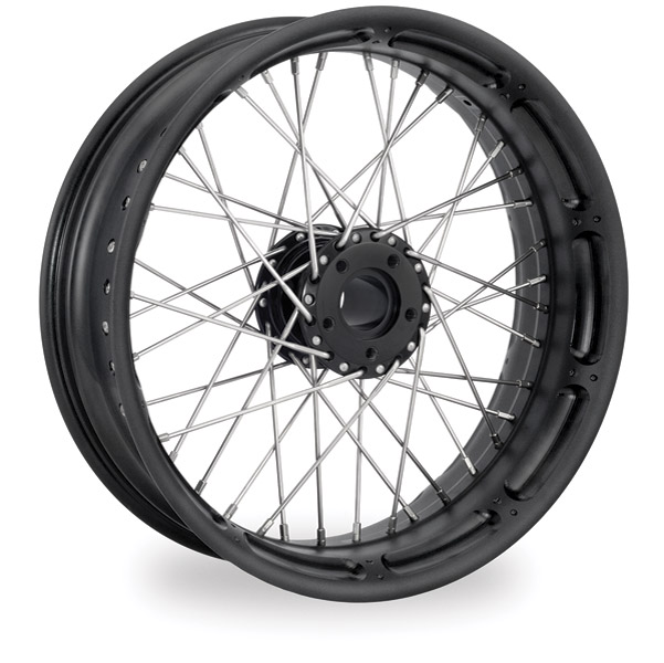 Performance Machine Spoked Wire Black Ops Front Wheel, 21