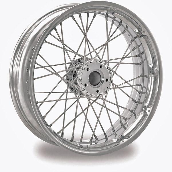 Performance Machine Spoked Wire Chrome Rear Wheel, 18