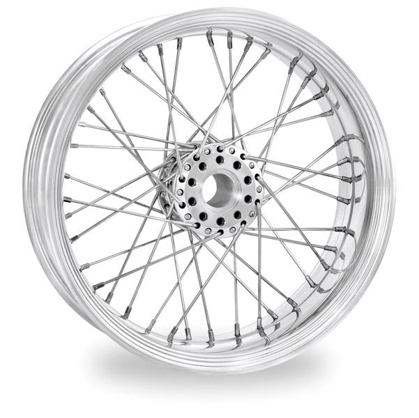 Performance Machine Merc Wire Chrome Front Wheel, 23