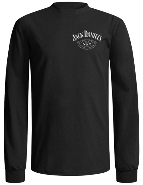 Jack Daniel's Black Long-Sleeve Label Shirt