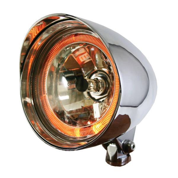 Rivera Primo Chrome Flame Thrower Max 5-3/4″ Halo headlight System