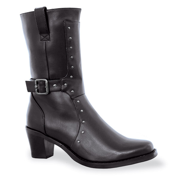 Milwaukee Motorcycle Clothing Co. Women's Black Allure Riding Boots
