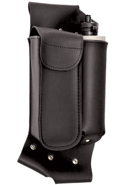 Interstate Leather Left Crash Bar Accessory Bottle Holder