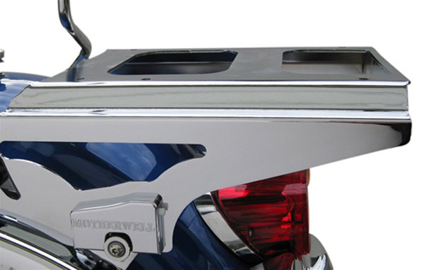 Motherwell 2-Up Lockable Detachable Chrome Tour-Pak Mounting Rack