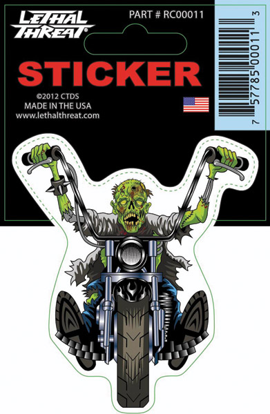 Lethal Threat Zombie Chopper Decal