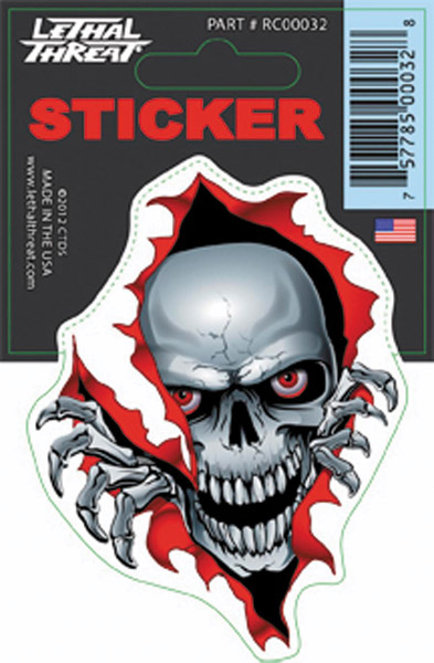 Lethal Threat RIP Skull Decal
